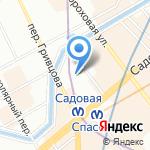 Невский стиль на карте Санкт-Петербурга
