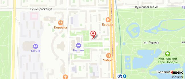 Карта расположения пункта доставки Санкт-Петербург Чернышевского в городе Санкт-Петербург
