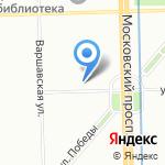 Автошкола №4 на карте Санкт-Петербурга