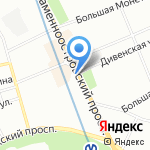 Матрешка на карте Санкт-Петербурга