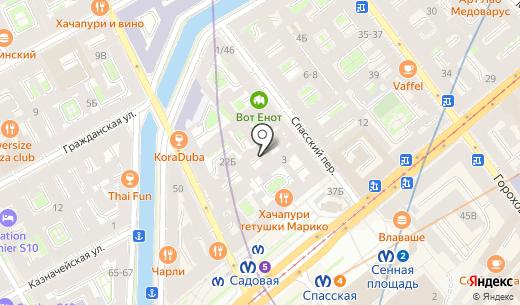Спортивный меломан. Схема проезда в Санкт-Петербурге