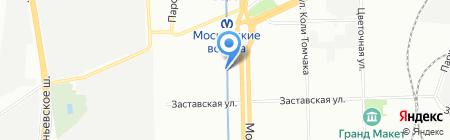 Движение на карте Санкт-Петербурга