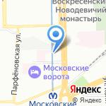 Управление МВД России по Московскому району на карте Санкт-Петербурга