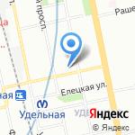 Удачный на карте Санкт-Петербурга