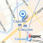 Магазин чая и кофе на карте Санкт-Петербурга