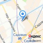 Объединенный ломбард на карте Санкт-Петербурга