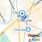 Адвокатский кабинет Григорьева О.В. на карте Санкт-Петербурга