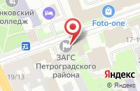 Схема проезда до компании Поток в Санкт-Петербурге