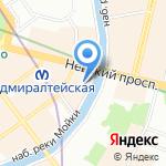 Леокаспис на карте Санкт-Петербурга