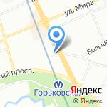 Аллегория на карте Санкт-Петербурга