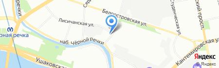 Новый Стандарт на карте Санкт-Петербурга