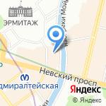Дом винила на карте Санкт-Петербурга