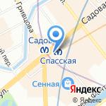 Донер Кебаб на карте Санкт-Петербурга