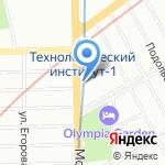 Герика на карте Санкт-Петербурга