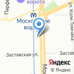 Берега Невы на карте Санкт-Петербурга
