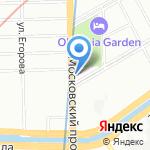 PlAZA real на карте Санкт-Петербурга