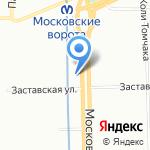 Балтийский экспресс на карте Санкт-Петербурга