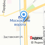 Мантия на карте Санкт-Петербурга