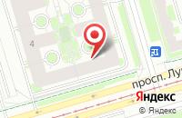 Схема проезда до компании Афина в Санкт-Петербурге