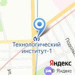 Первая полоса на карте Санкт-Петербурга