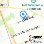 Альба на карте Санкт-Петербурга