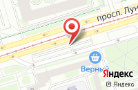 Схема проезда до компании Партекс в Санкт-Петербурге