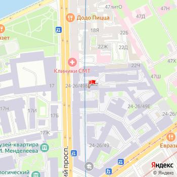 г. Санкт-Петербург, просп. Московский,24 на карта