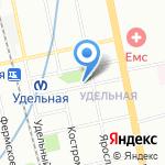 Магазин мяса и молочной продукции на карте Санкт-Петербурга