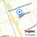 Самбист на карте Санкт-Петербурга