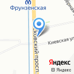 М-86 на карте Санкт-Петербурга