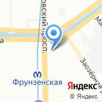 Военторг на карте Санкт-Петербурга