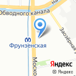 МАЭБ на карте Санкт-Петербурга