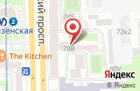 Схема проезда до компании Акцент в Санкт-Петербурге