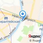 Юность России на карте Санкт-Петербурга