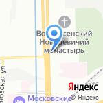Часовня равноапостольной Нины и преподобного Сергея Радонежского на карте Санкт-Петербурга