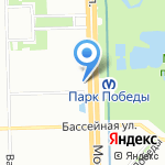 Нарцисс на карте Санкт-Петербурга