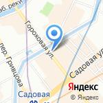 Котинос на карте Санкт-Петербурга