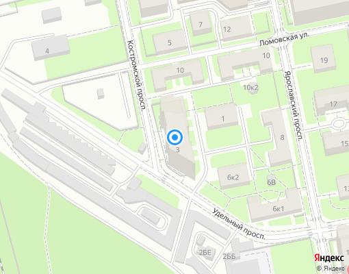 Товарищество собственников жилья «Костромской 3» на карте Санкт-Петербурга