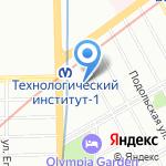 Магазин финских товаров на карте Санкт-Петербурга