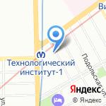 Омега+ на карте Санкт-Петербурга