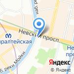 Музей восковых фигур на карте Санкт-Петербурга