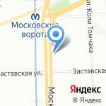 Стоматологическая поликлиника №12 на карте Санкт-Петербурга
