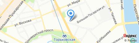 Петербургская Судоходная Компания на карте Санкт-Петербурга