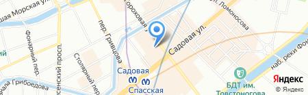 Океан на карте Санкт-Петербурга