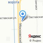 Линия Интерьера на карте Санкт-Петербурга