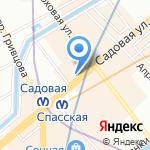 На Сенной на карте Санкт-Петербурга