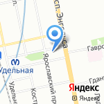 Макдоналдс на карте Санкт-Петербурга