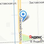 Жилищное агентство Московского района на карте Санкт-Петербурга