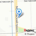 Геостар на карте Санкт-Петербурга