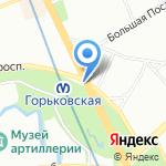 Магазин сезонных товаров на карте Санкт-Петербурга
